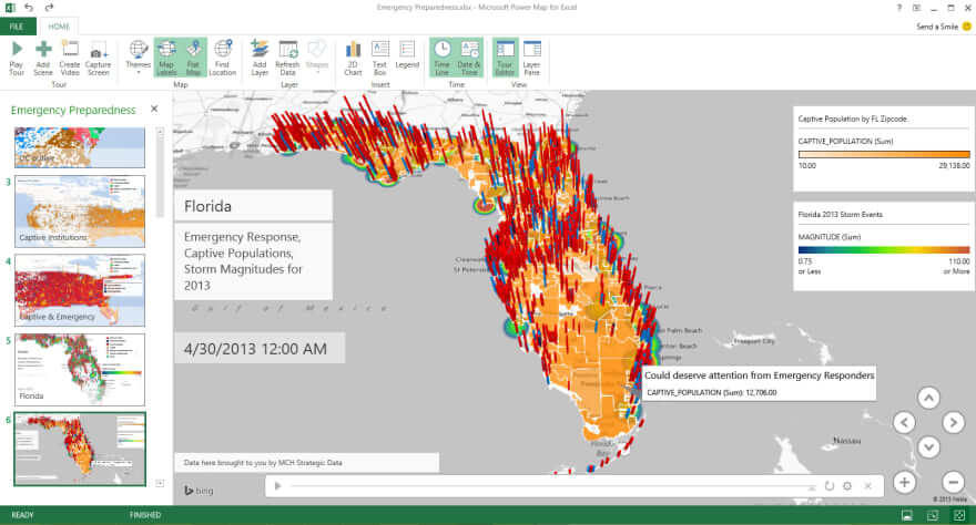 Excel map tool